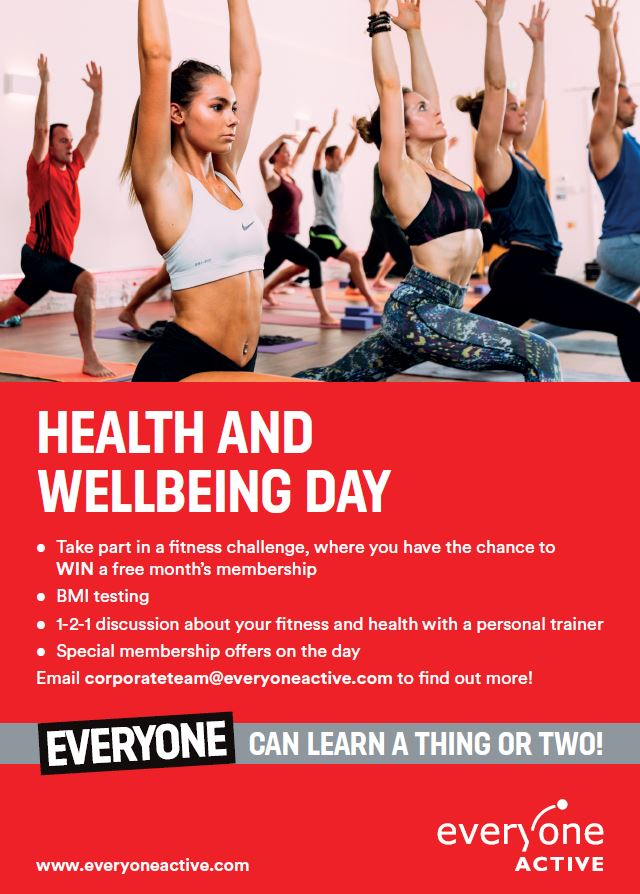 Try a Health and Wellbeing day with Everyone Active