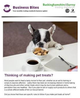 New business newsletter from Trading Standards